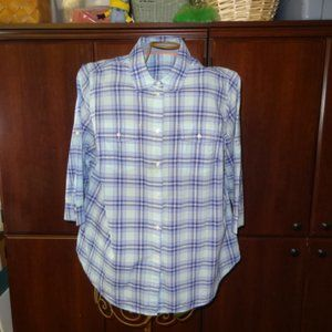 St. John's Bay Plaid Button Down Shirt